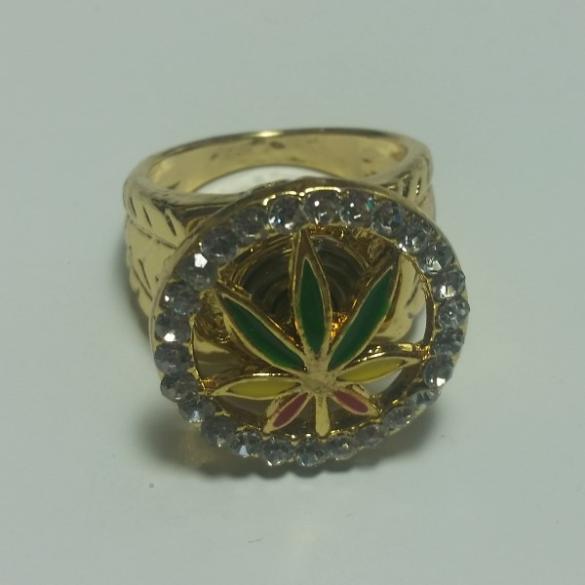 Cannabis Ring Guld