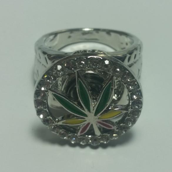 Cannabis Ring Sølv