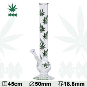Glas Bong Amsterdam Cannabis 45cm