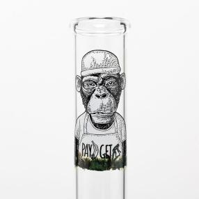 Glas Bong Green 25cm