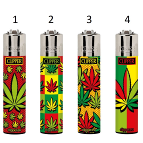 Clipper Lighter Pop Art Leaves