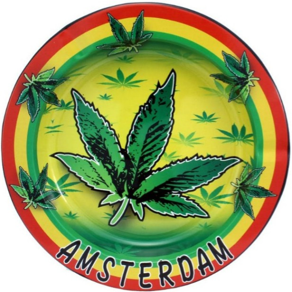 Metal Askebæger Rasta Cannabis