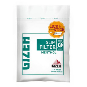 Filter Slim Menthol 6mm Gizeh